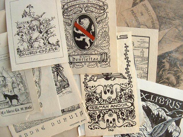 Une trentaine d'ex-libris XIXe et XXe..