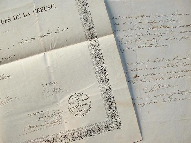 La Société des Sciences Naturelles de la Creuse nomme un membre.. Antoine Fillioux (1812-1878) Archéologue, conservateur du musée de Guéret, il a ...