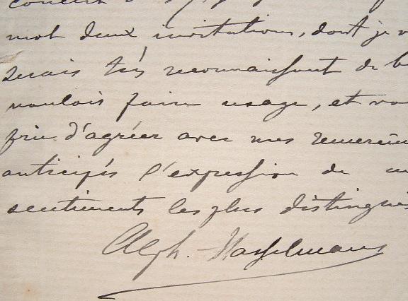 Le harpiste Alphonse Hasselmans lance les invitations à son concert.. Alphonse Hasselmans (1845-1912) Harpiste français d'origine belge, il a réalisé ...