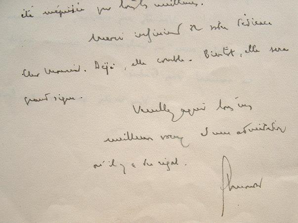 Henri Mondor comblé par une dédicace.. Henri Mondor (1885-1962) Chirurgien et historien de la littérature, spécialiste de Mallarmé, membre de quatre ...
