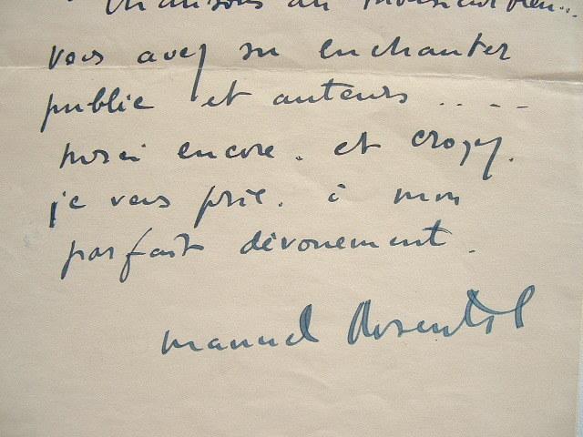 Manuel Rosenthal ravi de l'interprétation des Chansons du Monsieur Bleu.. Manuel Rosenthal (1904-2003) Compositeur et chef d'orchestre, élève et ami ...