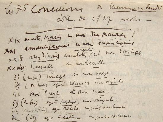 Charles Maurras dresse la liste des corrections de Chemin du Paradis.. Charles Maurras (1868-1952) Ecrivain et journaliste monarchiste, directeur ...