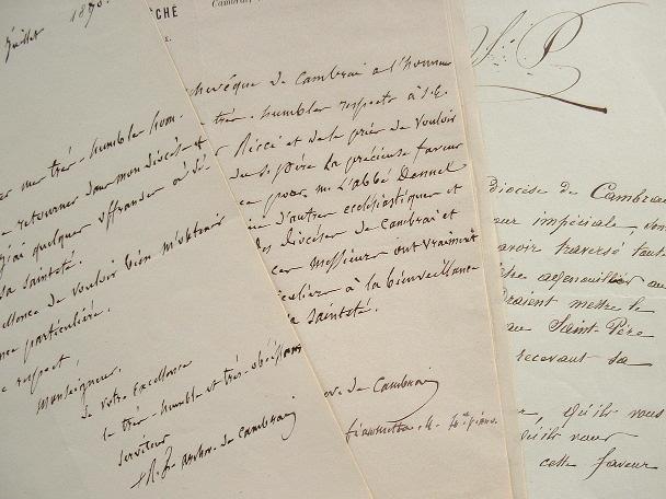 L'archevêque de Cambrai demande audience au pape pour ses diocésains.. René François Régnier (1794-1881) Evêque d'Angoulème (1842), archevêque de ...