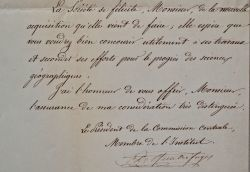 Quatrefages de Bréau admet un nouveau membre à la Société de géographie.. Armand Quatrefages de Bréau (de) (1810-1892) Zoologiste, biologiste et ...