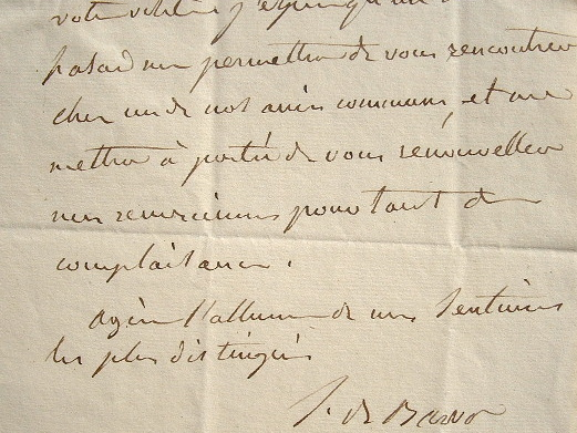 Sophie de Bawr échange son cabaret de Sèvres offert par le roi.. Sophie Bawr (baronne de) (1776-1860) Romancière et auteur dramatique.