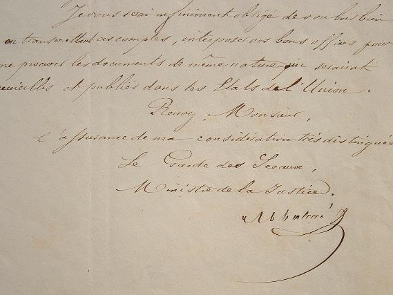 Abbatucci dispose des services du philanthrope Alexandre Vattemare.. Jacques Pierre Charles Abbatucci (1791-1857) Député puis ministre de la Justice.