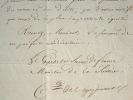 Le comte de Peyronnet désavoue le procureur d'Abbeville.. Pierre Denis Peyronnet (comte de) (1778-1854) Magistrat, ministre de la Justice (1821-1828) ...