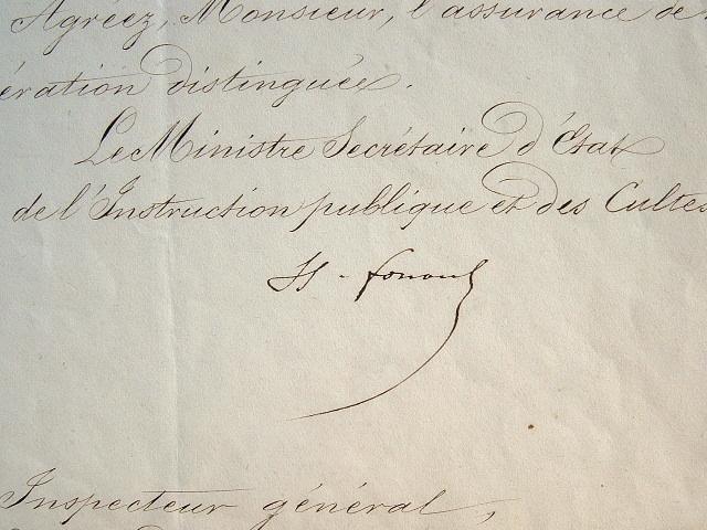 Hippolyte Fortoul met à disposition des ouvrages d'architecture.. Hippolyte Fortoul (1811-1856) Historien, ministre de l'Instruction publique ...