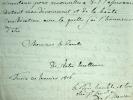 Le comte de Saint-Marsan promet son appui.. Antoine Marie Philippe Saint-Marsan (Asinari, comte de) (1761-1828) Diplomate italien au service de ...