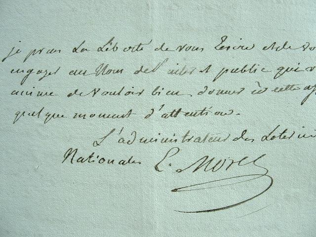 L'administrateur des loteries poursuit les fraudeurs.. Etienne Morel de Chefdeville (1747-1814) Auteur dramatique et librettiste, il fut aussi ...