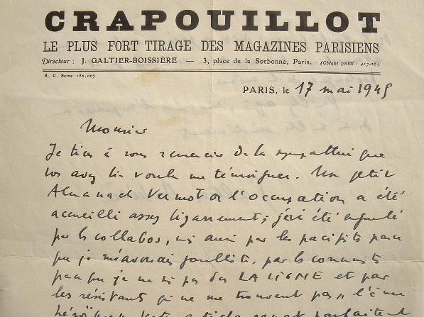 Jean Galtier-Boissière à l'index.. Jean Galtier-Boissière (1891-1966) Ecrivain polémiste et journaliste, fondateur du Crapouillot.