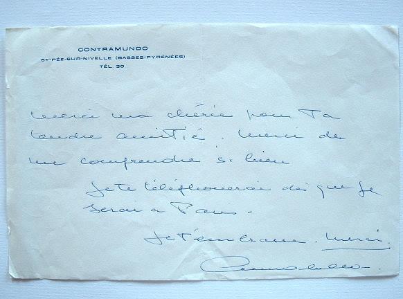 Lettre amicale d'Annabella.. Suzanne Georgette Charpentier dite Annabella (1907-1996) Actrice, elle est révélée par Abel Gance dans Napoléon, et ...