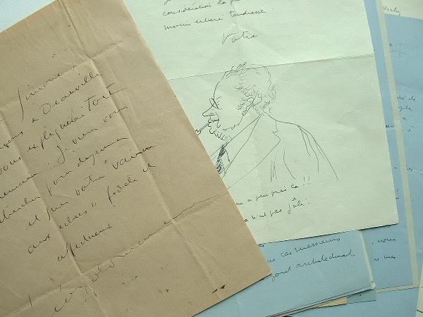 Pétillante correspondance du dramaturge Léopold Marchand.. Léopold Marchand (1891-1952) Auteur dramatique et scénariste.