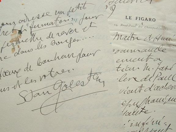 Stan Golestan recommande un élève de Paul Dukas, le compositeur José Rolon.. Stan Golestan (1875-1956) Compositeur roumain, critique musical au ...