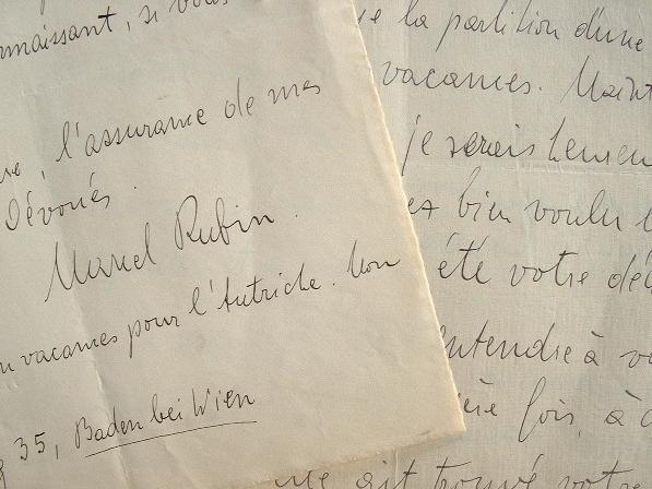 Marcel Rubin veut faire exécuter sa symphonie pour grand orchestre.. Marcel Rubin (1905-1995) Compositeur autrichien.