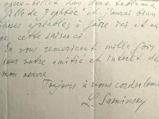Lazare Saminsky termine son opéra-ballet, la Fille de Jephtée.. Lazare Saminsky (1882-1959) Compositeur, chef d'orchestre et musicographe américain ...