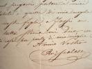 Lettre du premier bouffon du Théâtre Italien, Raffaele Scalese.. Raffaele Scalese (1800-1884) Basse italien, premier bouffon du Théâtre Italien, ...