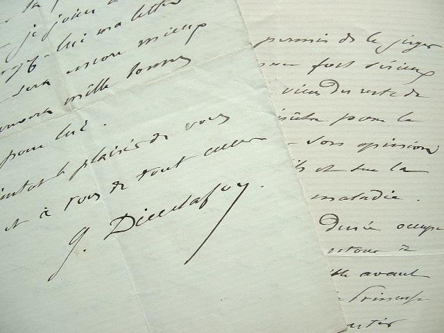 Georges Dieulafoy surveille la maladie de Gustave Popelin.. Georges Dieulafoy (1839-1911) Médecin, président de l'Académie de médecine, il est connu ...