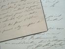 Deux lettres de l'agronome Hervé de Kergolay.. Hervé Kergolay (de) (1801-1873) Agronome, député de la Manche, il fonde, dans son domaine de Canisy ...