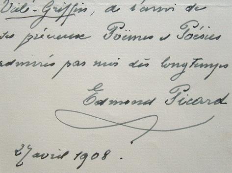 Le sénateur belge Edmond Picard, admirateur de Vielé-Griffin.. Edmond Picard (1836-1924) Magistrat et écrivain belge, journaliste, mécène et sénateur ...