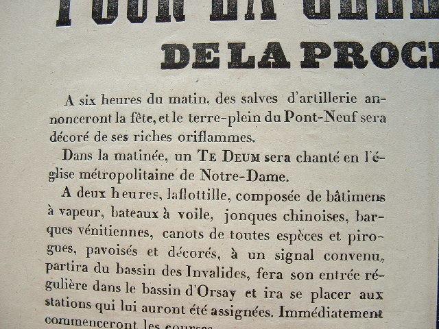 Programme des festivités pour l'anniversaire de la Révolution de 1848..
