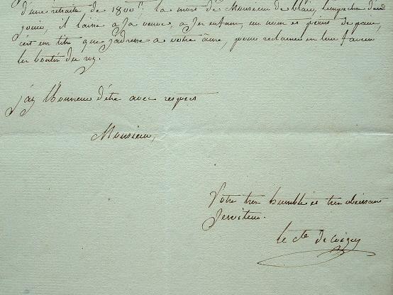 Le comte de Coigny demande les faveurs du roi.. Gabriel Augustin Coigny (de Franquetot, comte de) (1740-1817) Général, gentilhomme d'honneur de Madame ...