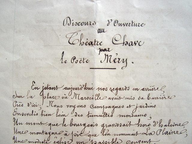 La création du Théâtre Chave célébrée à Marseille..