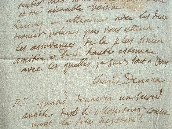 Le bibliothécaire de Napoléon, Carlo Denina, amateur de chocolat.. Carlo Denina (1731-1813) Ecrivain et historien italien, bibliothécaire de Napoléon ...