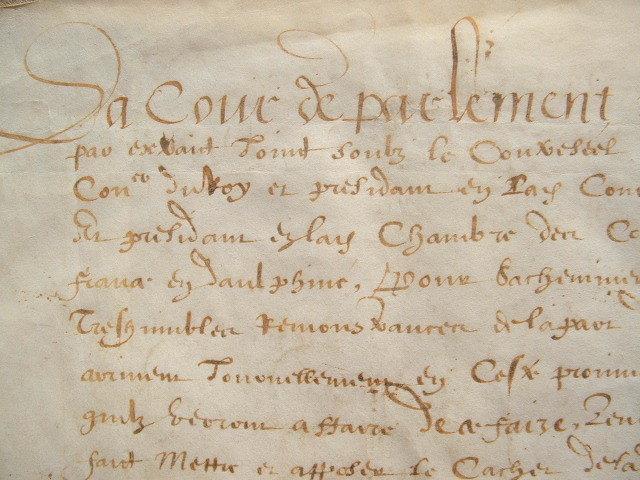 La Cour de Dauphiné envoie ses émissaires au roi..