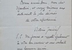 Victorin Joncières exprime sa gratitude à Vizentini après le succès de Dimitri.. Victorin Joncières (de) (1839-1903) Compositeur et critique musical, ...