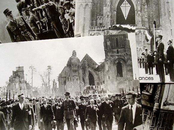 De Gaulle photographié à la Libération..