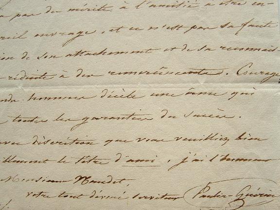 Paulin-Guérin enchanté par l'hommage à Molière.. Jean-Baptiste Paulin-Guérin (1783-1855) Portraitiste, il a réalisé des portraits de la plupart des ...