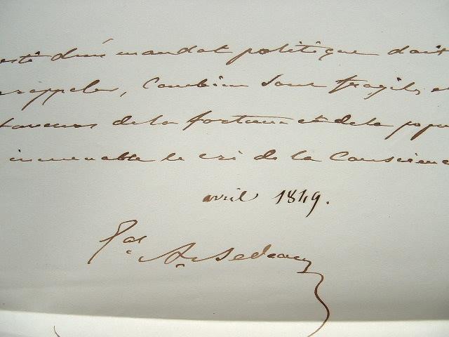 Le général Bedeau exprime sa conscience politique.. Alphonse Bedeau (1804-1863) Général, il s'est particulièrement illustré en Algérie, où il fut ...