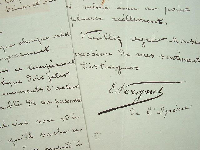 Le ténor Edmond Vergnet ému aux larmes sur scène.. Edmond Vergnet (1850-1904) Ténor de l'Opéra de Paris (1874-1893), il crée le rôle de Jean dans ...