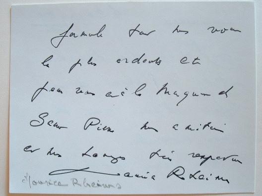 Maurice Rheims prend des nouvelles de Michel de Saint-Pierre.. Maurice Rheims (1910-2003) Commissaire-priseur, historien d'art et romancier, membre de ...