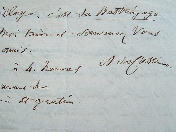 Astolphe de Custine fait l'éloge de Ravignan.. Astolphe Custine (de) (1790-1857) Voyageur et écrivain, auteur de La Russie en 1839.