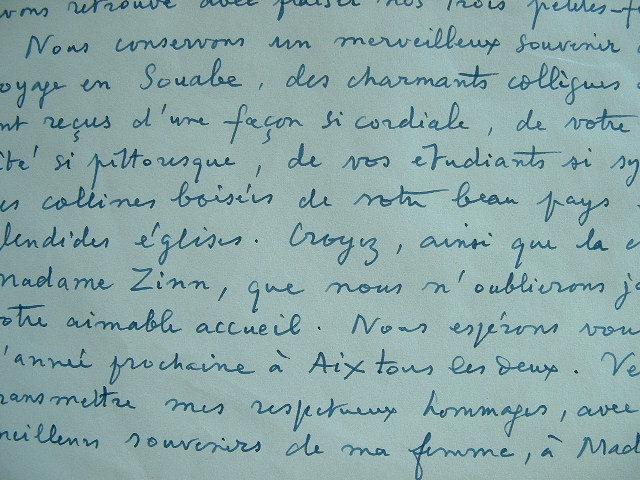 Pierre Fargues écrit à un collègue..