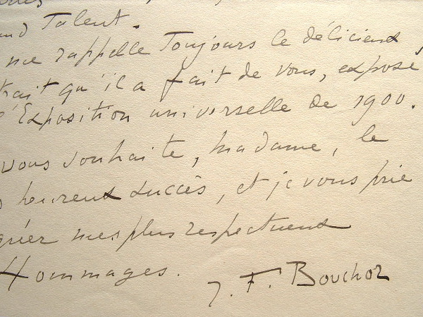 Joseph-Félix Bouchor envoie son dernier tableau.. Joseph Félix Bouchor (1853-1937) Peintre, artiste fécond dans des genres très divers (portraits, ...