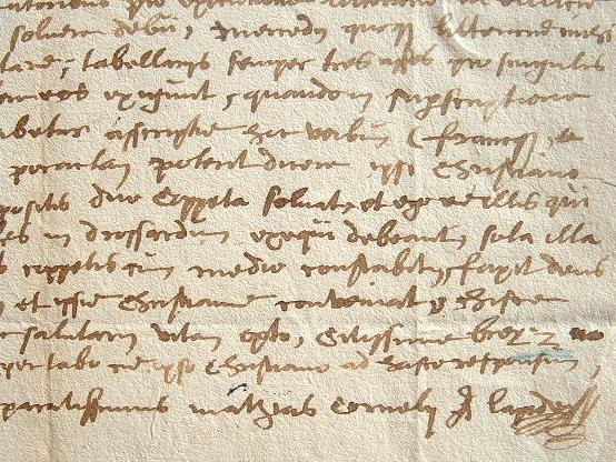 Rare lettre du bibliste Cornélius A Lapide.. Cornelissen van den Steen, dit Cornelius a Lapide (1567-1637) Jésuite, théologien et bibliste belge.