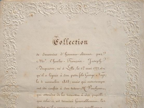 Collection de décorations de Charles François Joseph Duquesne..
