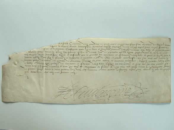 Une rente sur les greniers à sel de Marne et de Seine et Marne.. François Aubespine (de l') (0-1569) Frère du diplomate Claude de l'Aubespine et de ...
