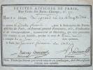 Souscription de Ducray-Duminil pour les Petites Affiches de Paris.. François Guillaume Ducray-Duminil (1761-1819) Romancier, chansonnier et moraliste.