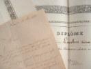 Deux diplômes de sociétés savantes drômoises.. Ernest Payan-Dumoulin (de) (1811-1887) Avocat et naturaliste à Valence, secrétaire de la Société de ...