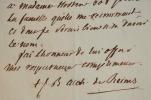 Un geste généreux de l'archevêque de Reims, Mgr Latil.. Jean-Baptiste Latil (1761-1839) Evêque de Chartres (1817), archevêque de Reims (1824), ...