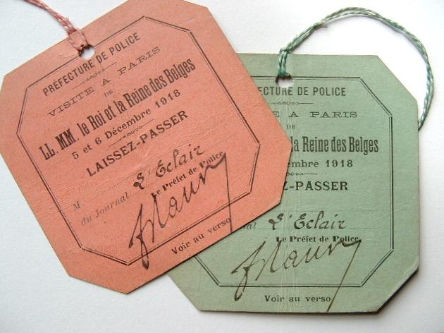 Souvenirs de la visite du Roi des Belges à Paris en 1918..