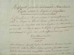 Un règlementation durcie pour les forçats du bagne de Toulon..