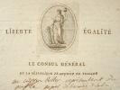 Lettre du Consul général de Livourne avec superbe vignette emblématique.. Louis Antoine Bertellet (de) (1728-0) Consul général de France à Livourne ...