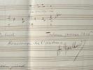 Fragment de l'opéra d'André Gailhard Amaryllis.. André Gailhard (1885-1966) Compositeur, premier grand prix de Rome (1908).