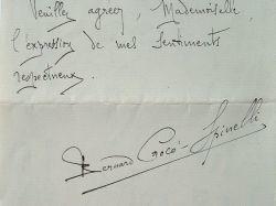 Le chef d'Orchestre Crocé-Spinelli offre ses collections d'autographes.. Bernard Crocé-Spinelli (1871-1932) Compositeur et chef d'orchestre, directeur ...