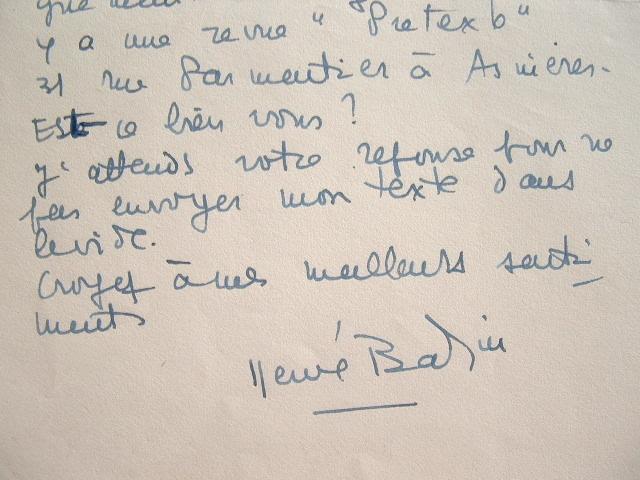 Hervé Bazin prêt à envoyer son texte.. Hervé Bazin (1911-1996) Écrivain, auteur de Vipère au poing (1948, roman autobiographique), membre de ...